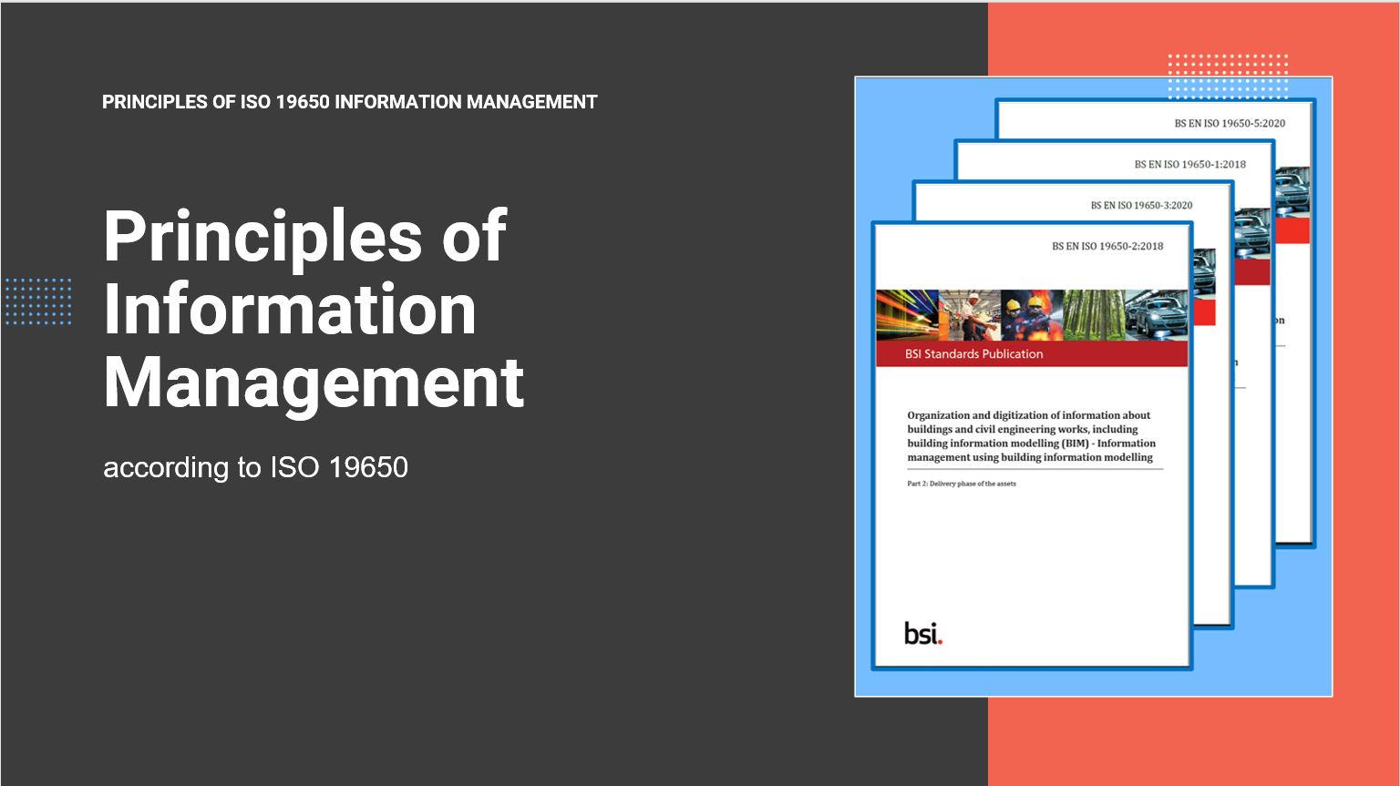 Principles of Information Management according to ISO19650